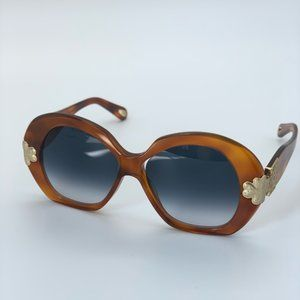 Brand NEW Chloe CE743S 725Blonde Havana Sunglasses